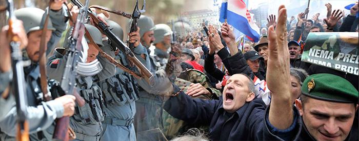 VIOLENCIA Y TENSA PUGNA HISTORICA ENTRE LA GUERRA Y LA PAZ: